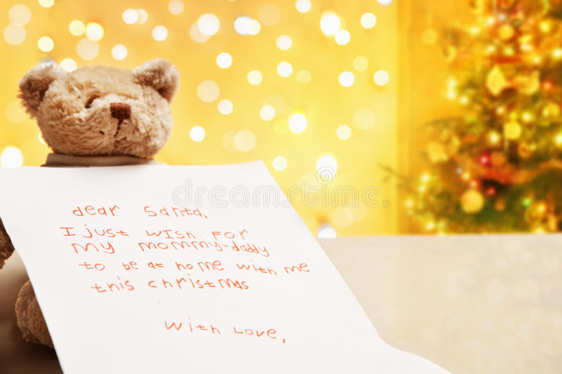 Download Child True Wish On Christmas Stock Photo - Image: 11992688