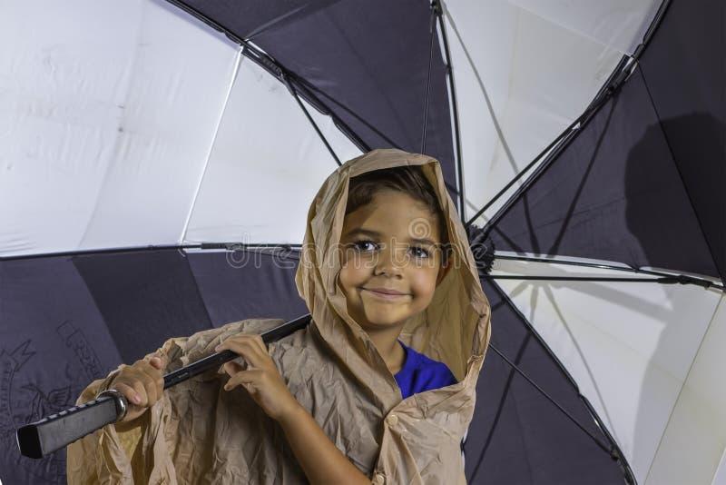 Download Child Umbrella stock image. Image of funny, preschooler - 33059645