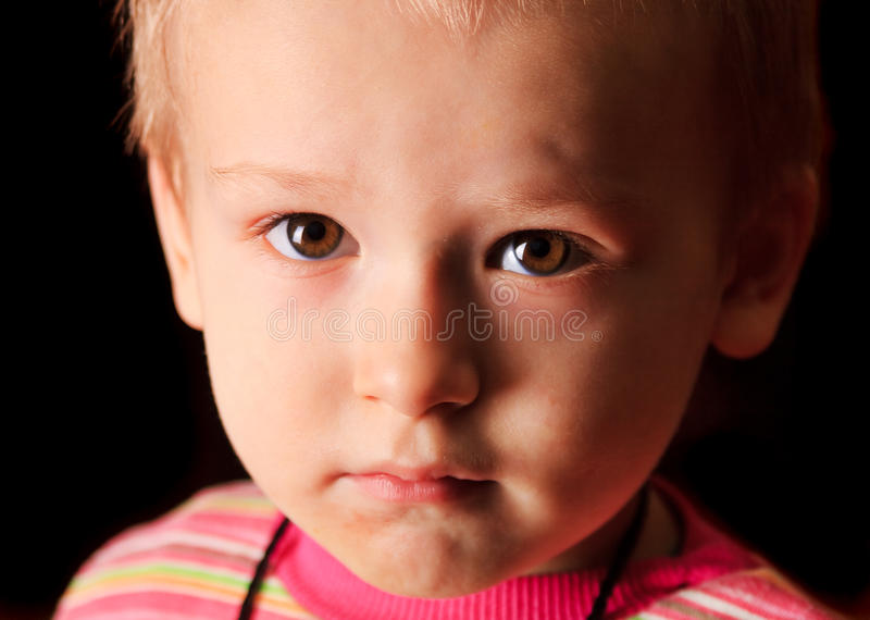 Child upset stock photo