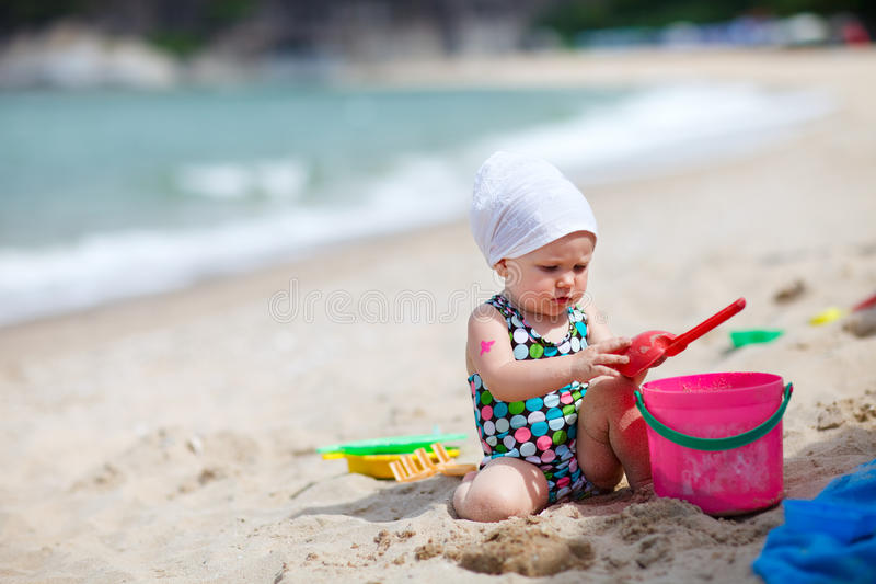 Child on vacation stock image