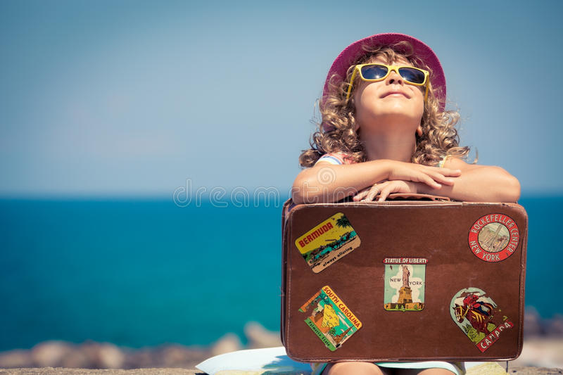 Child on vacation royalty free stock photos