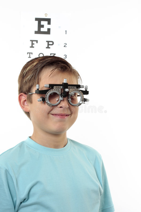 Child Vision checkup stock photos