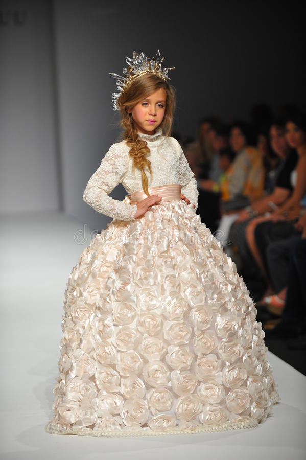 A Child Walks Runway At Nancy Vuu Children Show Editorial Stock Image Image 38922784