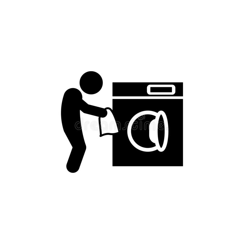 Child, washing icon. Element of glyph self independent child icon for mobile concept and web apps. Glyph child, washing icon can b. E used for web and mobile on stock illustration