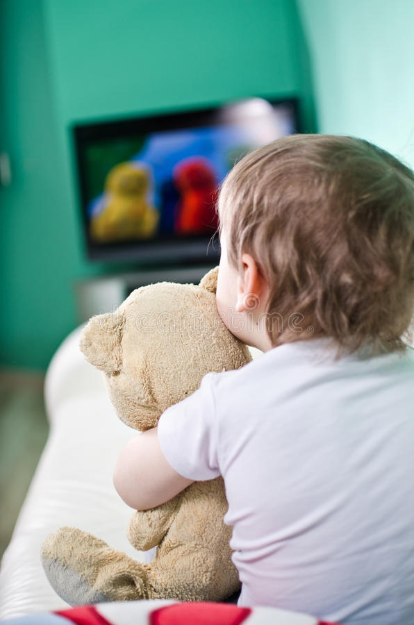 Download Child watching TV stock illustration. Image of child - 23463560