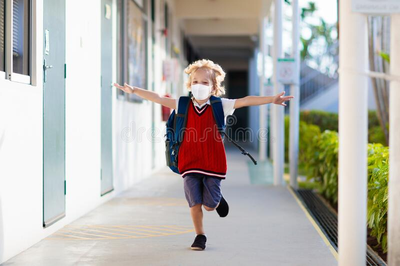 Child wearing face mask. Virus outbreak royalty free stock photos