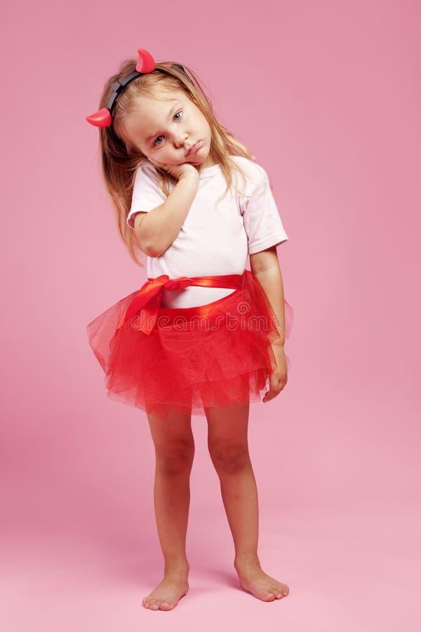 Child wearing halloween costume stock photography