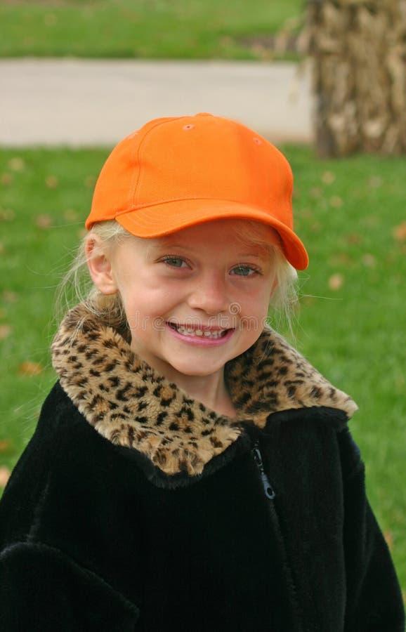 Child Wearing Orange Hat
