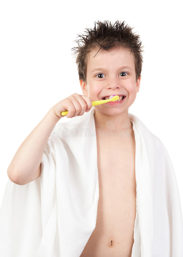 Download Child with wet hair stock photo. Image of body, isolated - 31229460