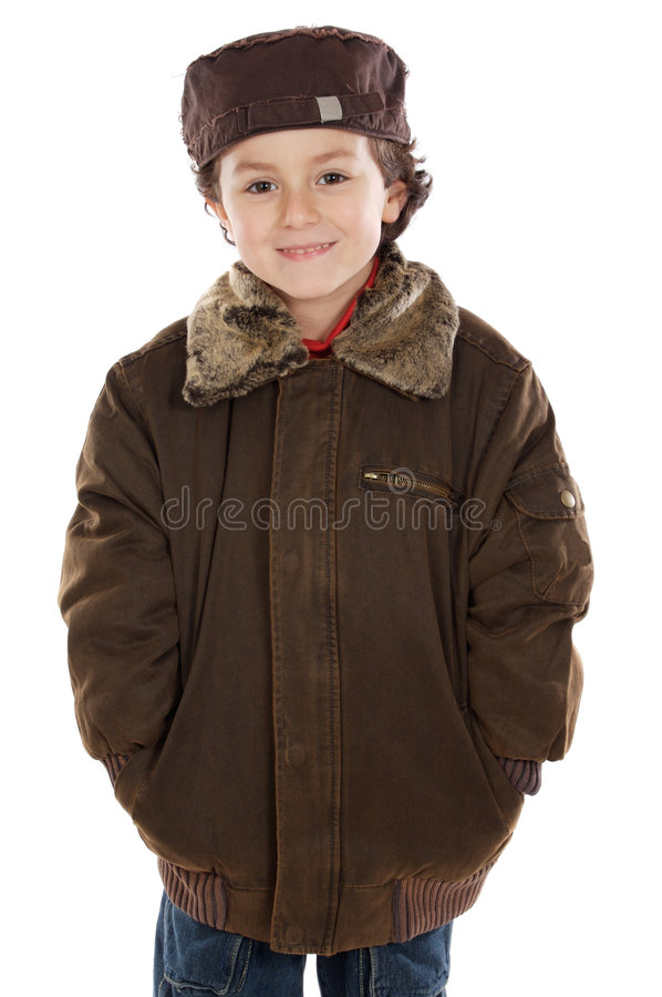 Download Child whit hat stock image. Image of fashion, child, young - 4120909