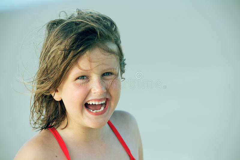 Child in the wind royalty free stock images