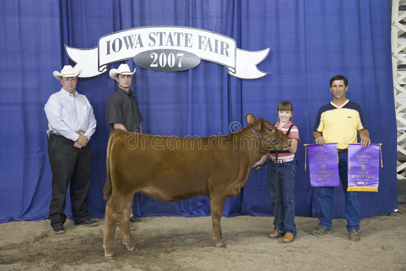 Child winner of Cow Competition