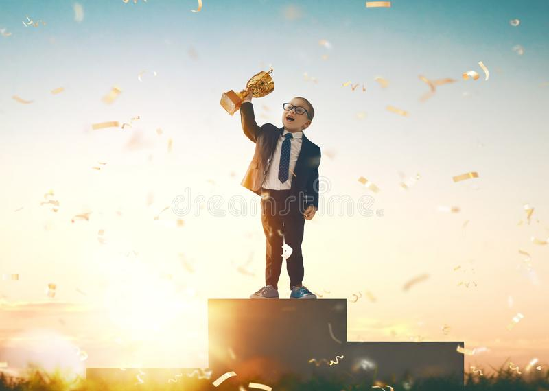 Child is winner royalty free stock images