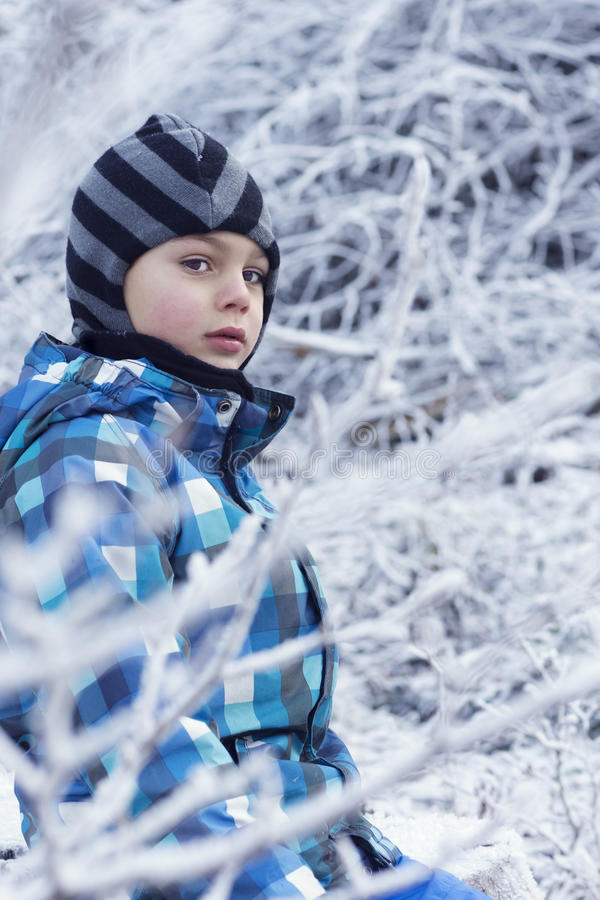 child winter royaltyfri fotografi