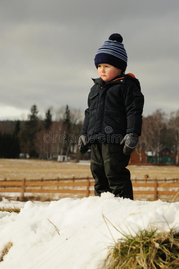 Download Child In Winter Countryside Stock Image - Image: 22950859