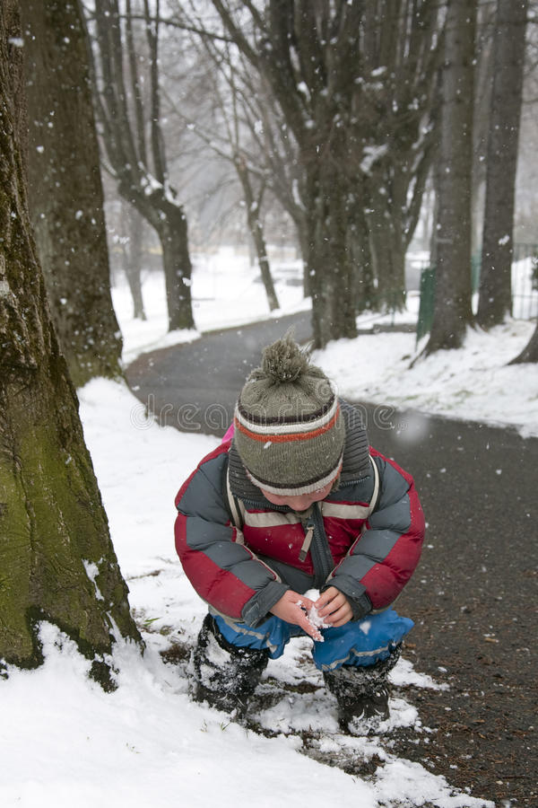 Download Child in winter park stock photo. Image of snowing, toddler - 25083784