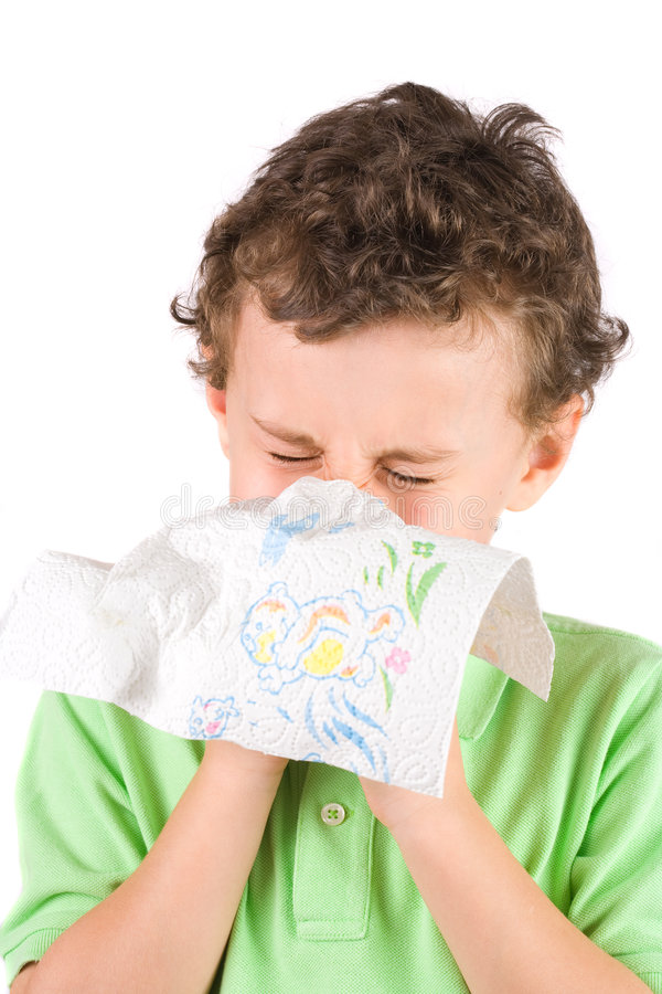 Download Child wiping his nose stock photo. Image of nose, pain - 7918470