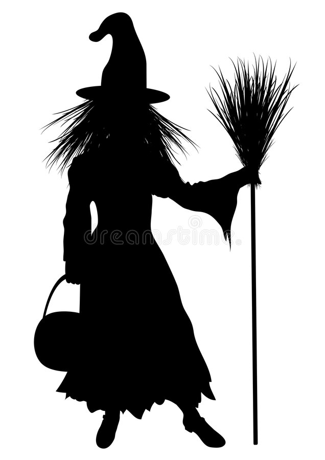 Child Witch Costume stock illustration