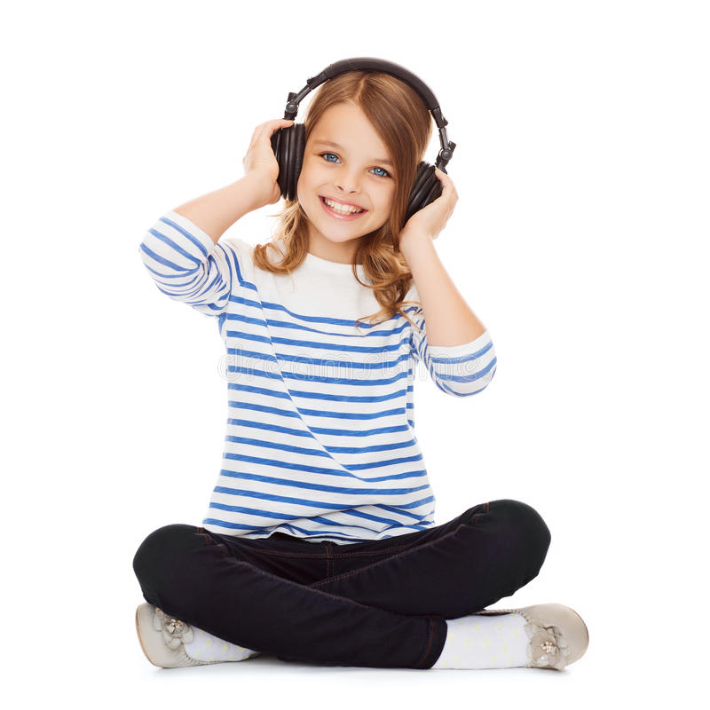 Free Child With Headphones Royalty Free Stock Photo - 33876235