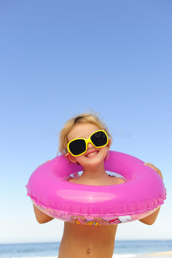 Free Child With Sunglasses At The Beach Stock Images - 15030774