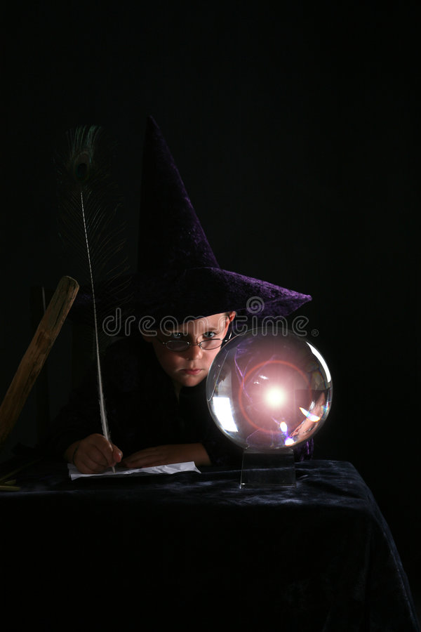 Download Child in wizard costume stock photo. Image of spells, future - 6325408