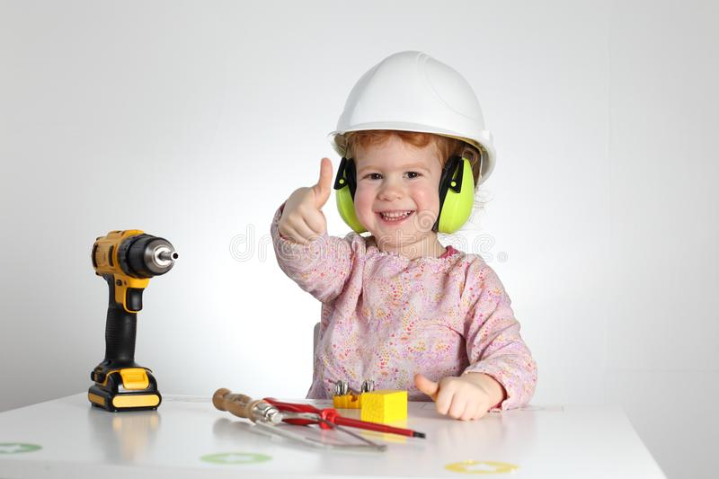 Child at work occupational health and safety royalty free stock images