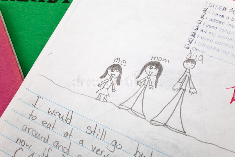 Child Writing. Close up for background royalty free stock photography