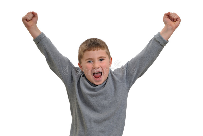 Child yelling royalty free stock photography