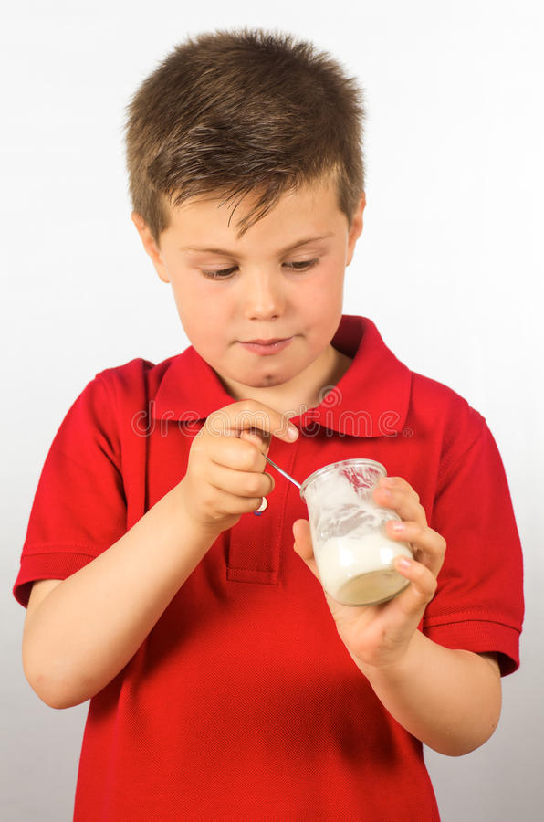 Download The child of yogurt 7 stock photo. Image of dairy, healthy - 30398806