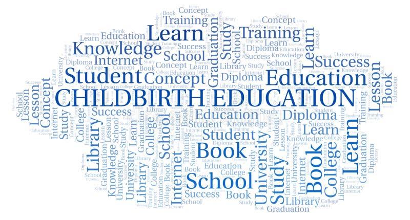 Childbirth Education word cloud. Childbirth Education word cloud, wordcloud made with text only vector illustration