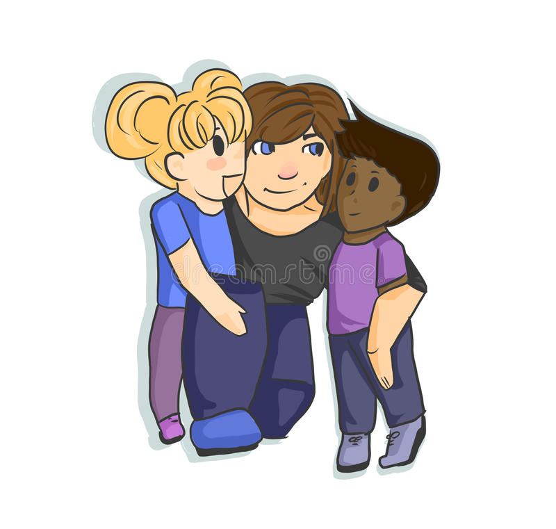 childcare illustration libre de droits