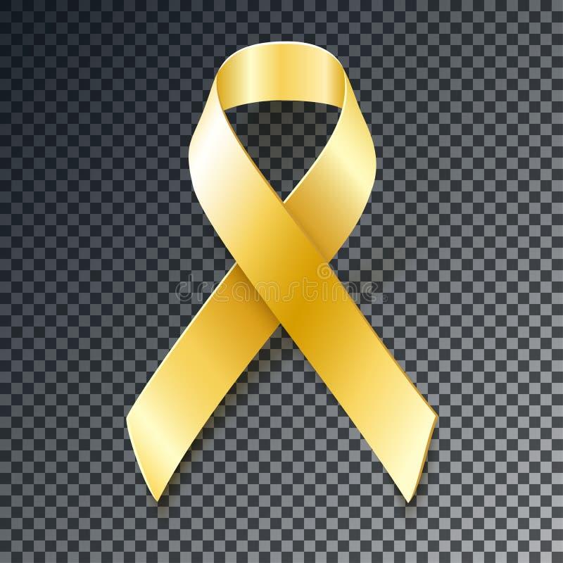 Free Childhood Cancer Awareness Gold Ribbon Royalty Free Stock Photos - 65278748