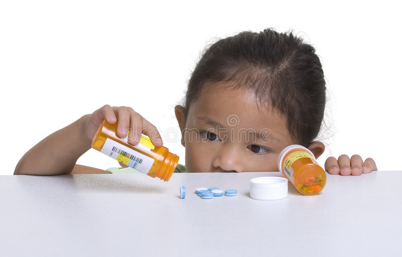 Download Childhood dangers stock image. Image of bottle, pretty - 3357657