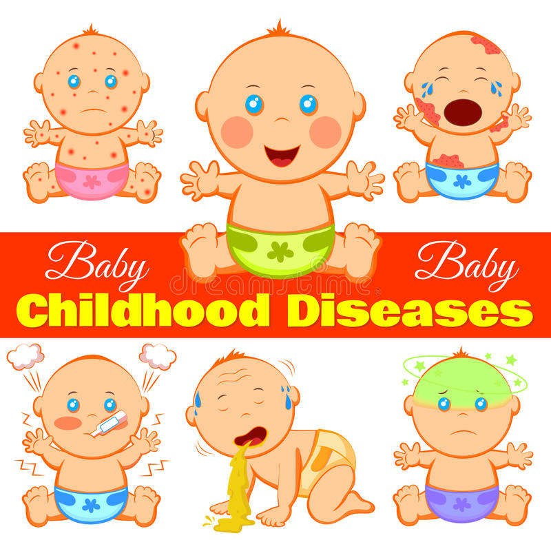 Childhood Diseases Background royalty free illustration