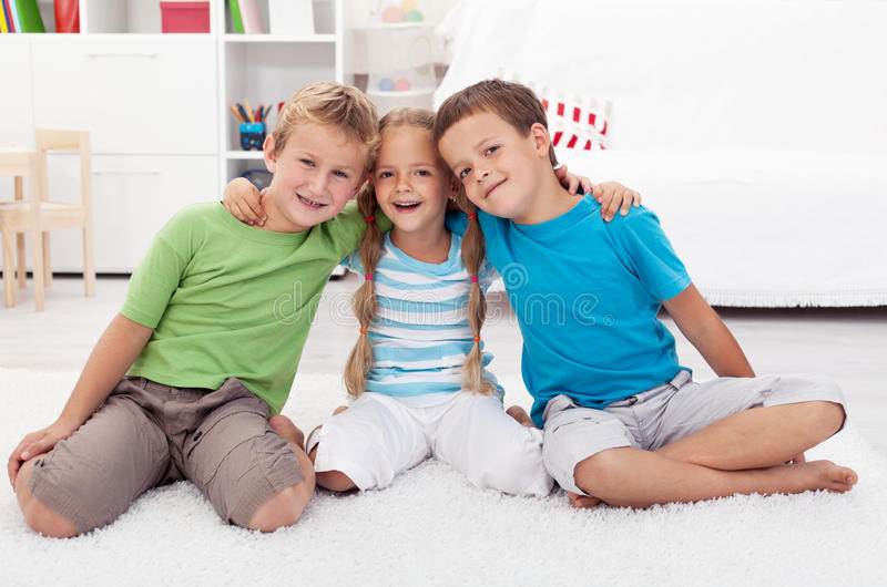 Childhood friendship royalty free stock photos
