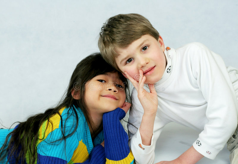 Childhood friendships royalty free stock images