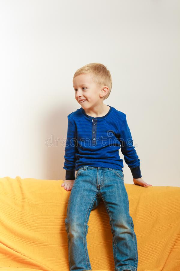 Little boy playing and having fun royalty free stock images