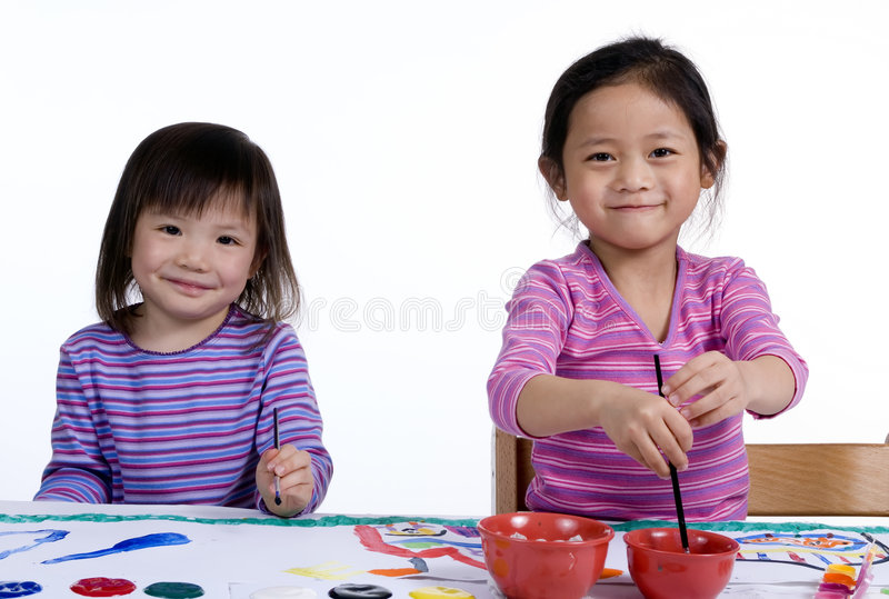 Download Childhood Painting 007 stock image. Image of learn, holding - 2221239
