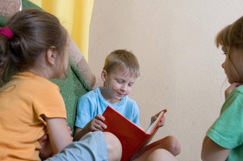 Download Childhood reading stock image. Image of boys, education - 11870083