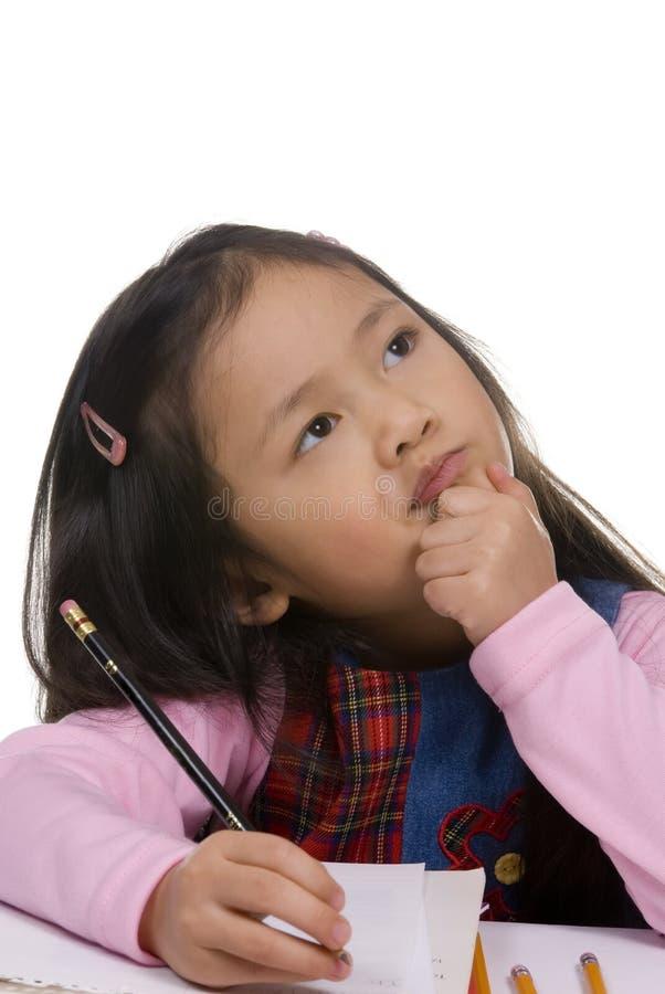 Childhood Series (Thinking) stock photo