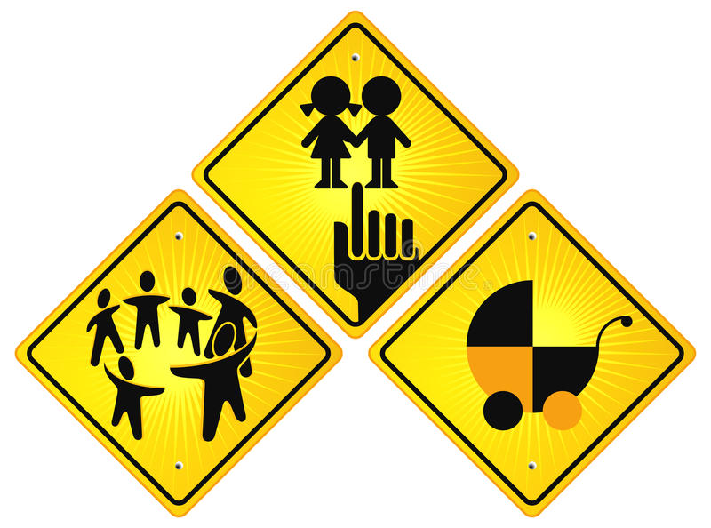 Childhood Sign Royalty Free Stock Images