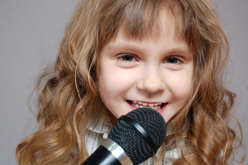Download Childhood singing stock image. Image of caucasian, happiness - 13744155