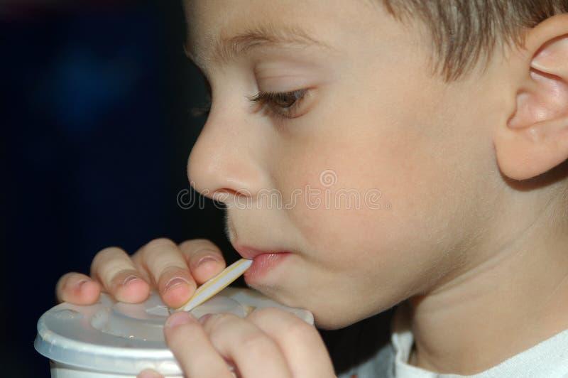 Childing Drinking stock image