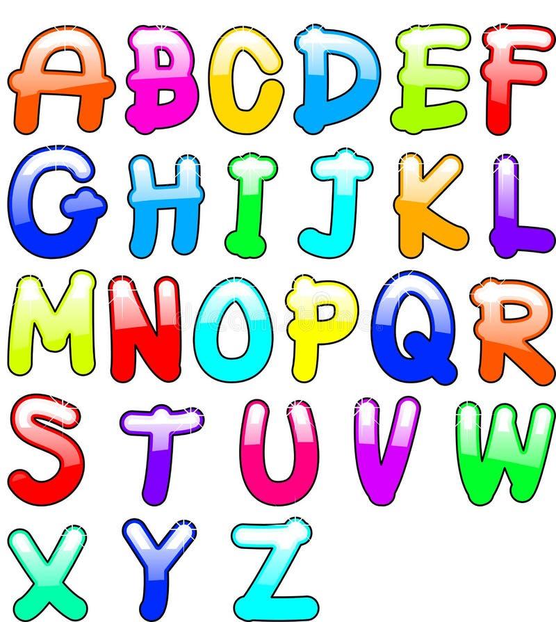 Childish Alphabet Stock Photo