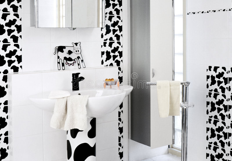 Childish bathroom royalty free stock photos