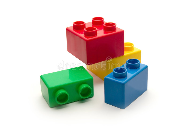 Childish blocks stock photography