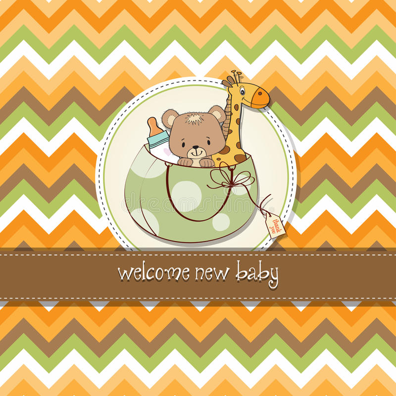 Download Childish Cartoon Greeting Card Stock Image - Image: 25751851