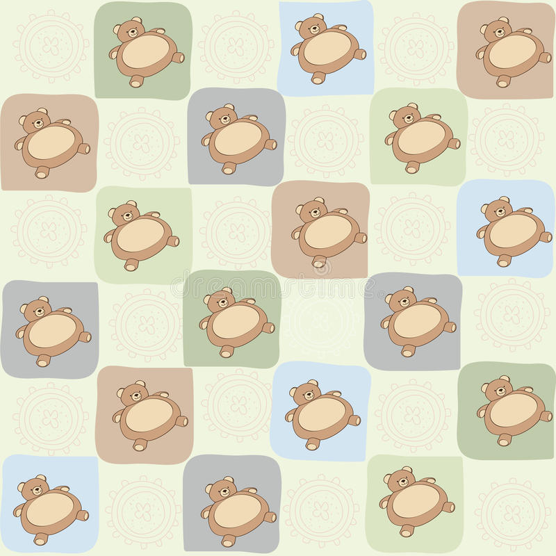 Download Childish Seamless Pattern With Teddy Bear Stock Vector - Image: 30628441