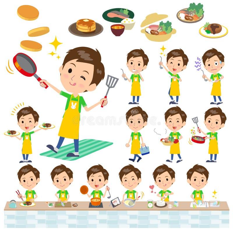 Childminder men_cooking ilustracja wektor