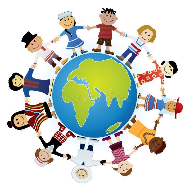 children światowi ilustracja wektor